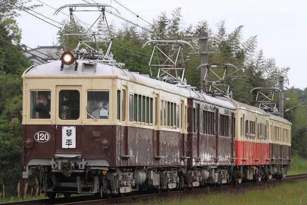 3223K 高松琴平電鉄1000形120号+3000形300号+20形23号+5000形500号 4両