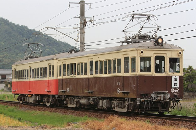 3040K 高松琴平電鉄5000形500号+20形23号 2両