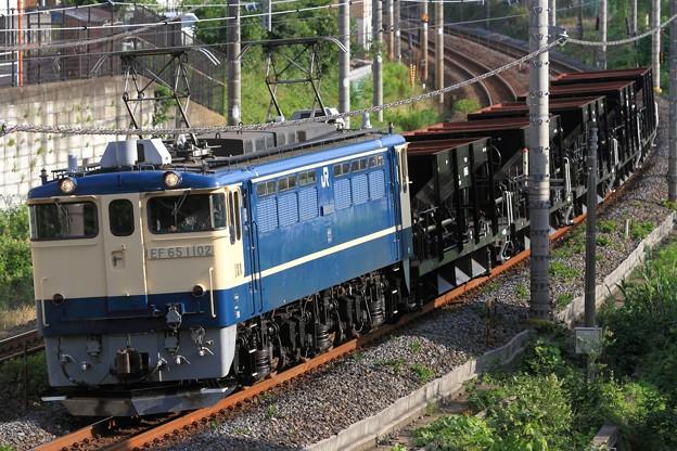 写真: 配8937レ EF65 1102+ホキ