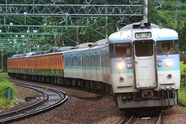 回9731M 115系新ニイL99+高タカT1037+T1036編成 10両