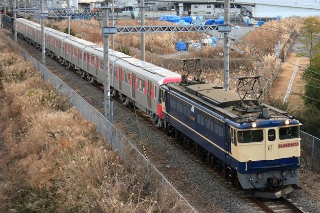 9597レ EF65 2068+都営12-600形12-701F 8両+ヨ8902