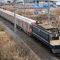 Photos: 9597レ EF65 2068+都営12-600形12-701F 8両+ヨ8902
