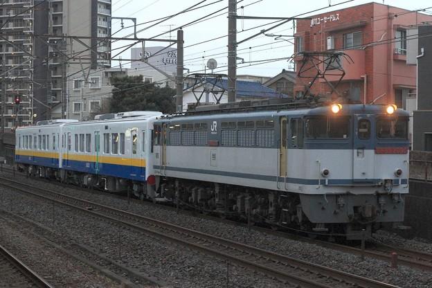 9175レ EF65 2090+関東鉄道キハ5022+キハ5021
