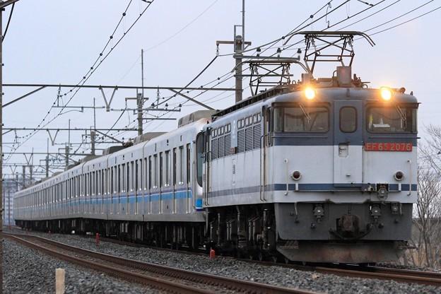 9288レ EF65 2076+東京メトロ07系07-105F 10両