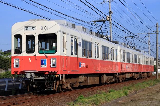1068レ 高松琴平電鉄600形801号+700形723F 3両