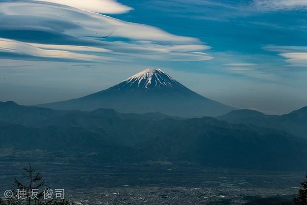 吊るし雲と富士