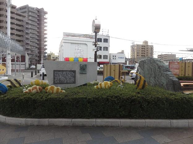 焼津駅前にある「小泉八雲」の記念碑