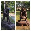 歴史館前の囚人像