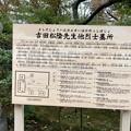 吉田松陰と烈士の墓所について