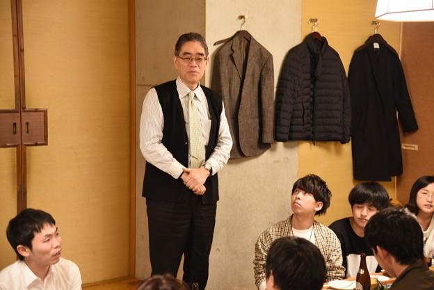 一次会にて 後藤先生ご挨拶
