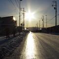 写真: 光の道
