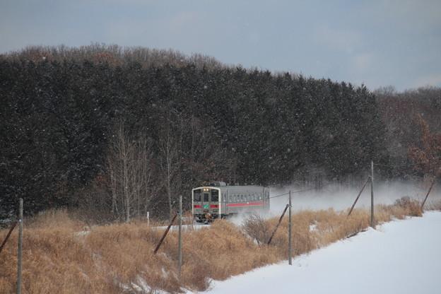 Photos: 雪降るなかを行く