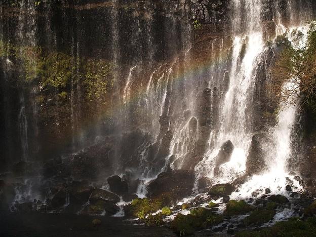 白糸の滝の虹