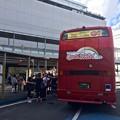 Photos: 二階建てオープンバス めいぷるスカイ 広島市南区松原町 広島駅新幹線口 市内観光バスのりば
