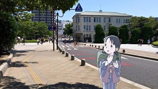 レストハウス 広島市中区中島町 平和記念公園 スマホアプリ 舞台めぐり AR撮影