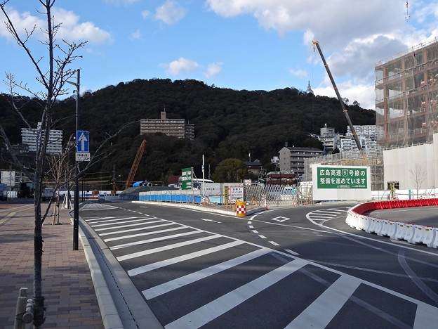 広島高速5号線 広島駅北口インターチェンジ 仮称 工事 広島市東区二葉の里3丁目 2015年2月13日