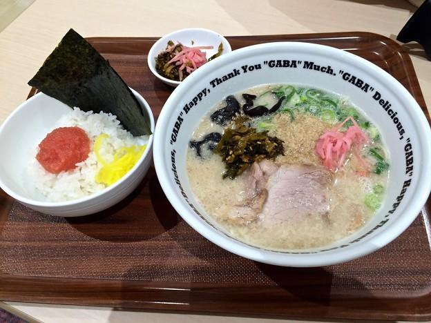 Photos: ラーメンスタンドGABAゆめタウン広島店 ramen 白うま 明太子ごはん