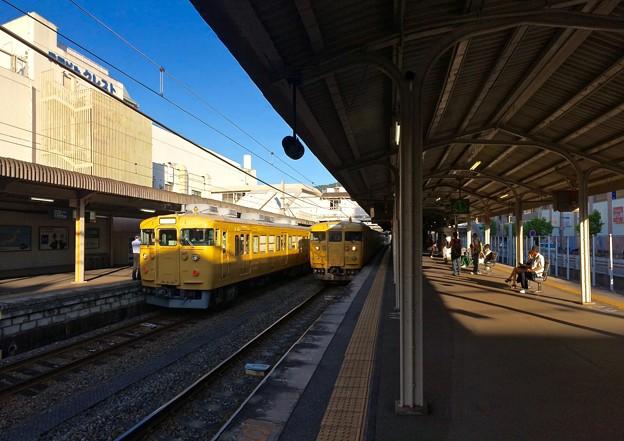 JR呉駅 在来線ホーム JR西日本115系 2016年5月27日