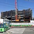 写真: ナショナル会館建設中 猿猴橋北詰から 2014年4月1日