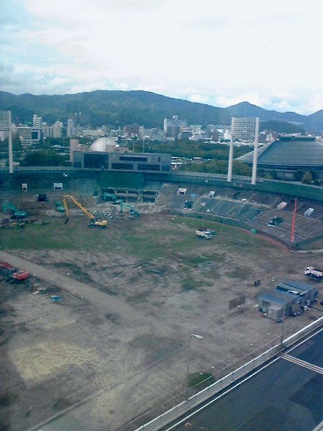 旧広島市民球場跡地 広島市中区基町 2011年9月18日
