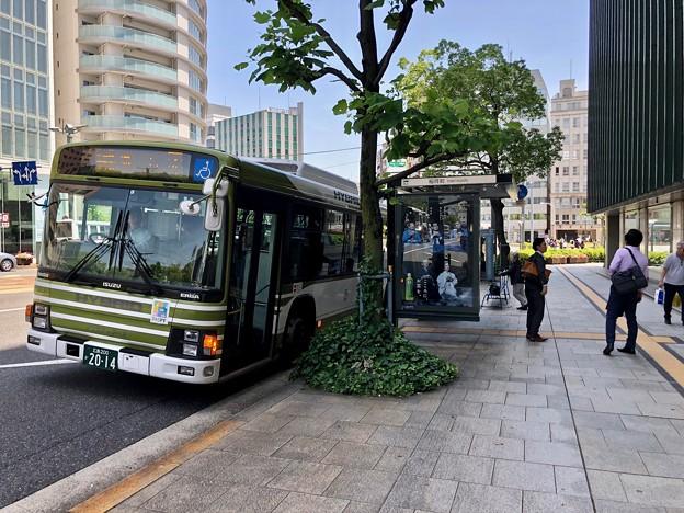 稲荷町 バス停 広島市南区稲荷町 2018年5月25日
