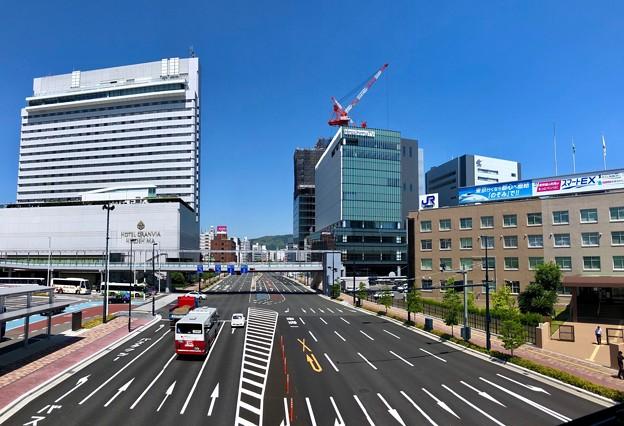 二葉通り 新幹線口交差点 広島市南区松原町 - 二葉の里3丁目 2018年5月22日