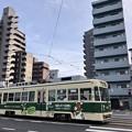 広島電鉄 800形 広島市南区的場町2丁目 皆実線 大正橋交差点 2018年7月2日