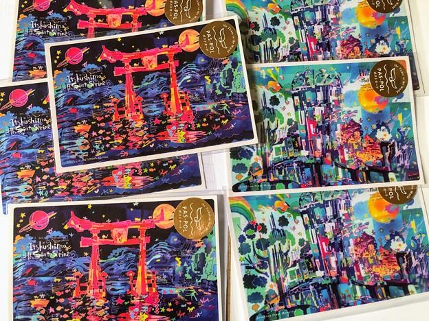 世界一周団体TABIPPO PAS-POL 世界遺産アートポストカード 厳島神社 原爆ドーム