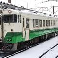 Photos: キハ40 雪の会津川口行き 会津若松にて 2018年撮り納め