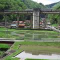 Photos: 次に田植えの季節を迎える頃には、宇都井駅に列車は来ない。