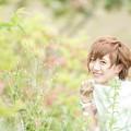 輝く笑顔、