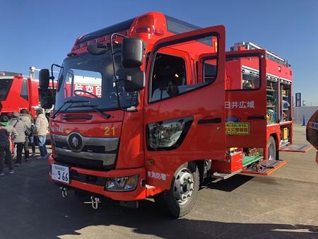 西春日井二市一町合同出初式 消防車展示 IMG_2083