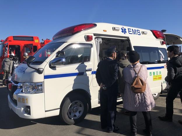 西春日井二市一町合同出初式 救急車展示 IMG_2085