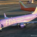 Photos: FDA フジドリームエアラインズ ERJ-175 JA16FJ バイオレット 県営名古屋空港にて  IMG_8105_2_edited-1
