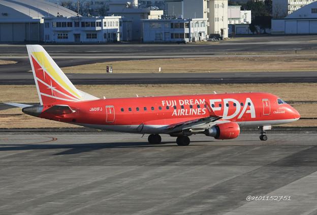 FDA フジドリームエアラインズ ERJ-170 JA01FJ 県営名古屋空港にて IMG_8192_3