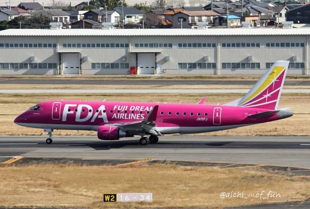 FDA フジドリームエアラインズ ERJ-175 JA15FJ ローズピンク IMG_8325_3