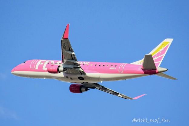 Photos: FDA フジドリームエアラインズ JA15FJ ローズピンク ERJ-175 IMG_8370_3
