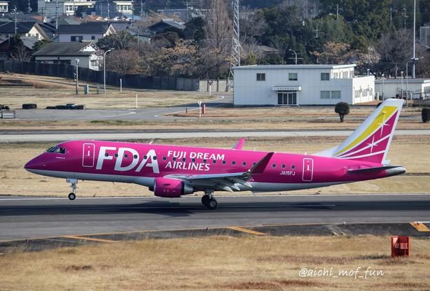 FDA フジドリームエアラインズ ERJ-175 JA15FJ ローズピンク IMG_8431_3