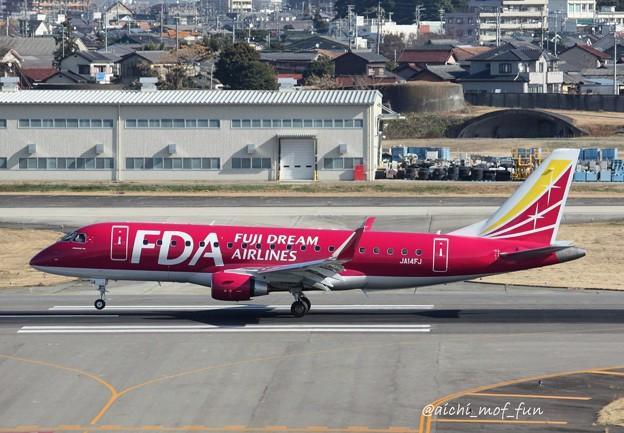 FDA フジドリームエアラインズ ERJ-175 JA14FJ ワインレッド IMG_8462_3