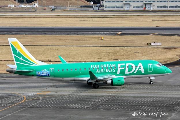 FDA フジドリームエアラインズ ERJ-175 JA11FJ グリーン IMG_8612_3
