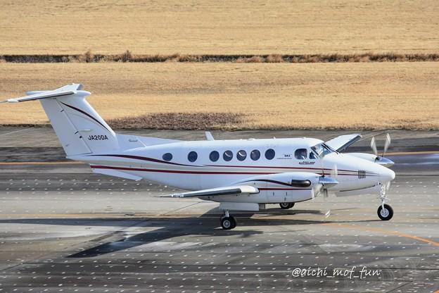 ダイヤモンド・エア・サービス ビーチクラフト 200 Super King Air JA20DA  IMG_9189_3