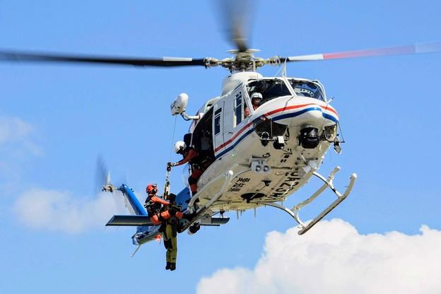 愛知県防災航空隊 ベル412 JA23AR わかしゃち 訓練展示 IMG_4816_3
