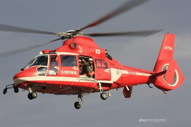 名古屋市消防航空隊 ユーロコプター AS365/565 ドーファン2 JA758A のぶなが IMG_6520_3