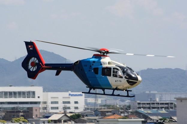 中日新聞 あさづる 川崎BK117C-2 JA03CP IMG_9679_3