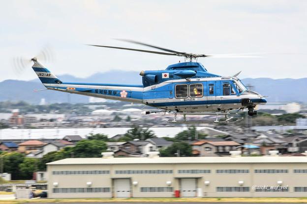愛知県警察 Bell412EP JA21AP あけぼの IMG_9567_3