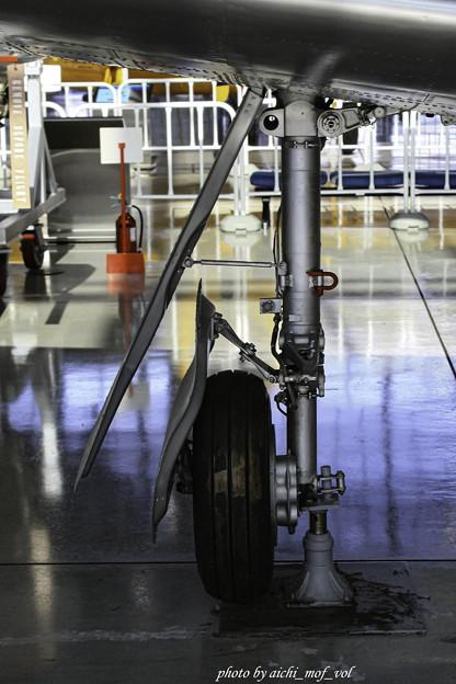 デハビラント DH115 バンパイア Mk.55練習機 主脚@エアーパーク IMG_3416-3