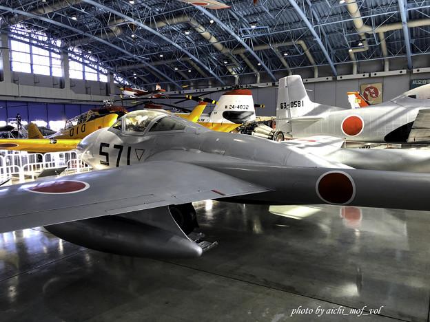 デハビラント DH115 バンパイア Mk.55練習機 @エアーパーク IMG_8693-3