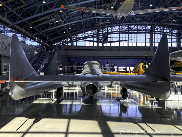 デハビラント DH115 バンパイア Mk.55練習機 @エアーパーク IMG_8604-3
