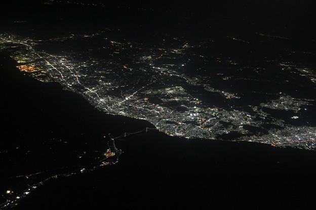 明石海峡の夜
