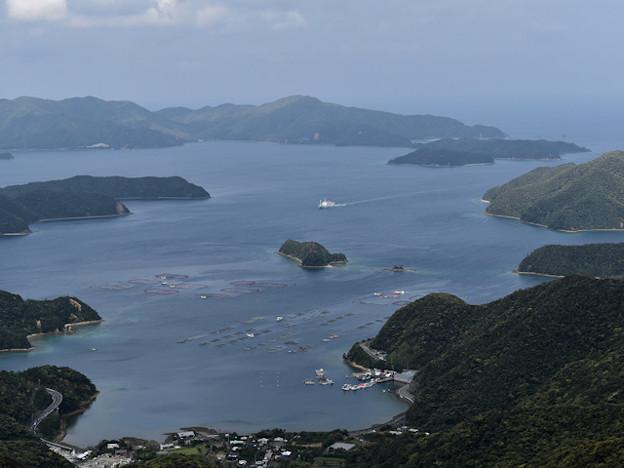 高知山展望台から大島海峡を望む